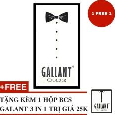 Hộp Bao Cao Su Gallant 0.03 Hộp 12 Chiếc (Siêu Mỏng 0.03mm) - Tặng 1 Hộp Gallant 3 in 1