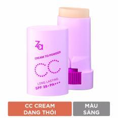 Kem Cc Trang Điểm Dạng Thỏi Za Cream-To-Powder Cc Stick Light 8 G