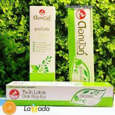 Kem Đánh Răng Thuốc Twin Lotus Thảo Dược Thailand (hỗ trợ người vàng ố răng)