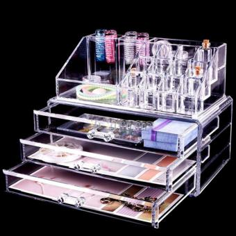 Khay đựng mỹ phẩm cosmetic 3 tầng