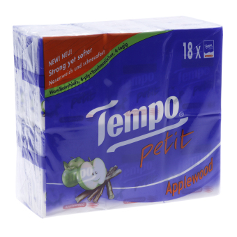 Lốc 18 gói khăn giấy Tempo Petit Applewood