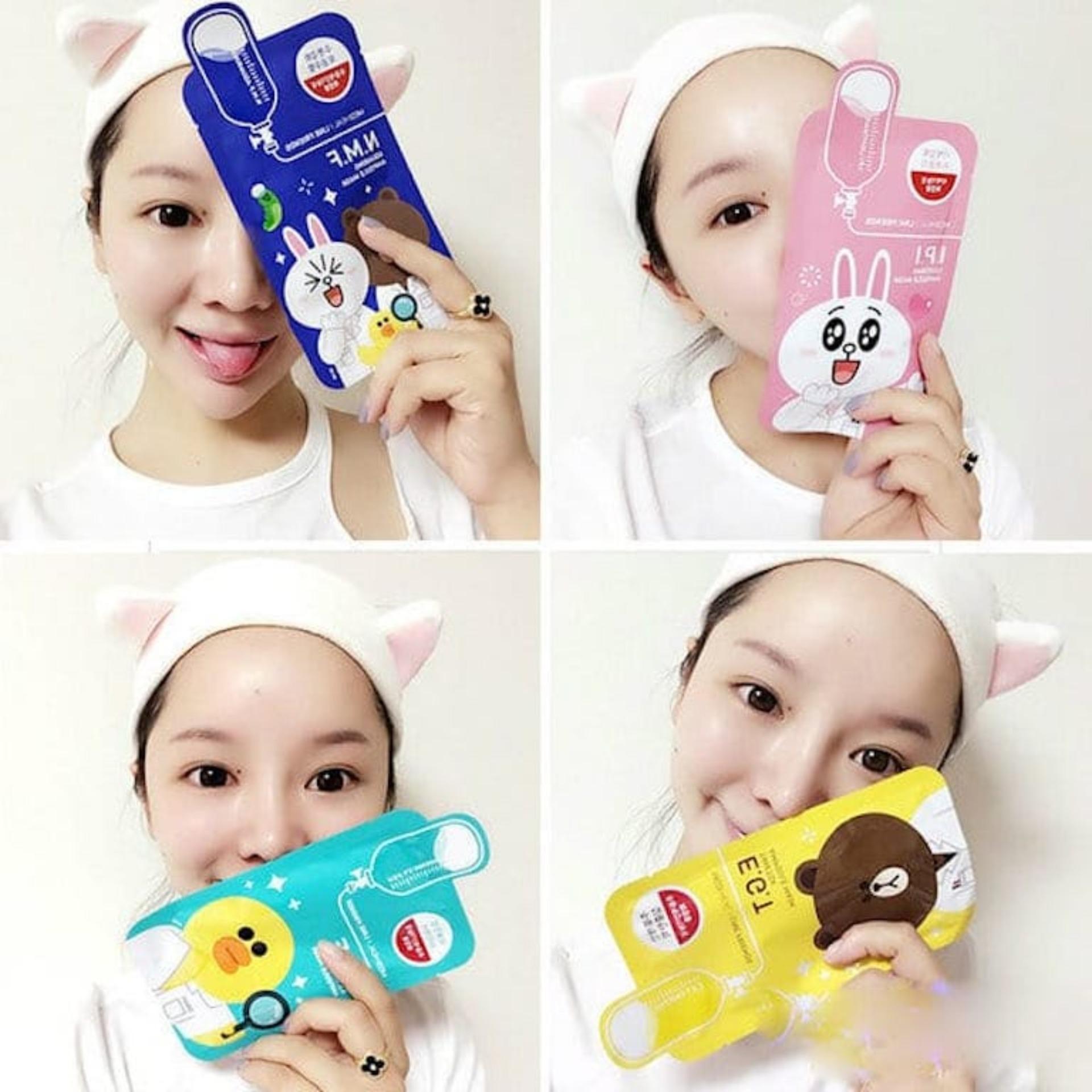 Mua Uy Tn Mt N Giy Dng Da Mediheal Line Friends Ampoule Mask Hp 10 Ming