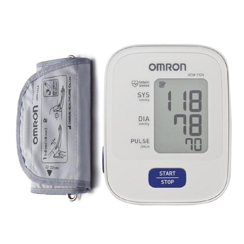 Nơi bán Máy đo huyết áp bắp tay Nhật bản thương hiệu OMRON HEM-7120 (Trắng)