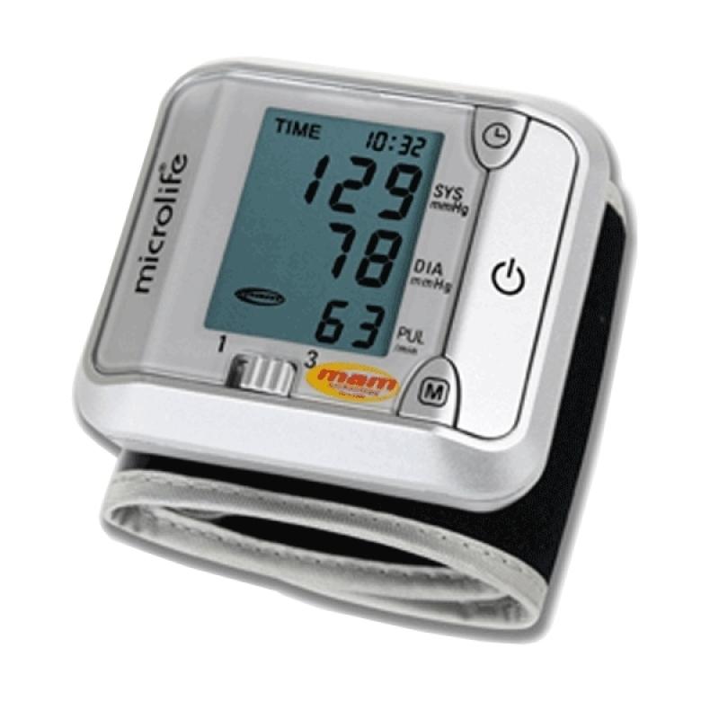 Nơi bán Máy đo huyết áp cổ tay Microlife 3BJ1 4D (Trắng phối xám)