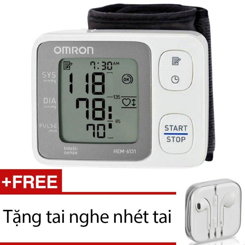 Nơi bán Máy đo huyết áp cổ tay Omron HEM-6131 + Tặng 1 tai nghe nhét tai