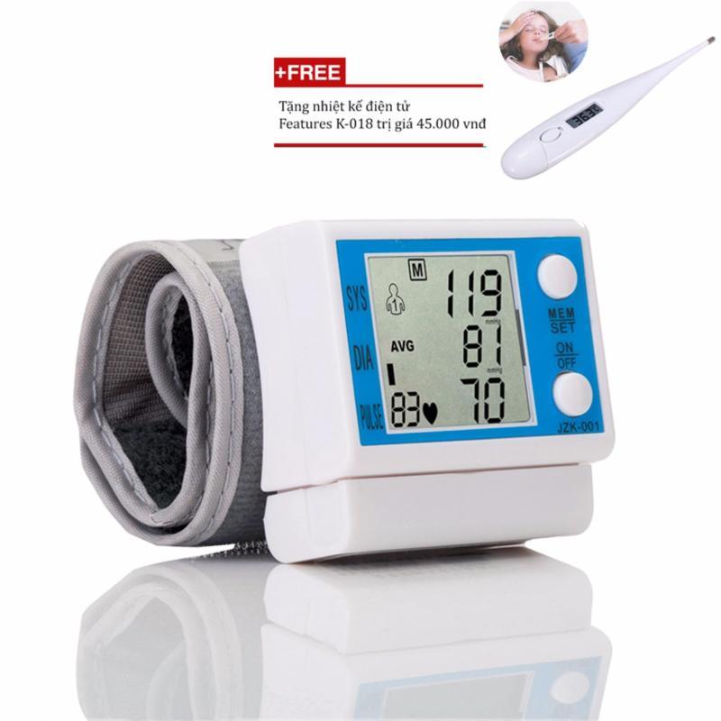 Nơi bán Máy đo huyết áp Healthy life JZK-001 (Trắng) + Tặng nhiệt kế điện tử Features K-018