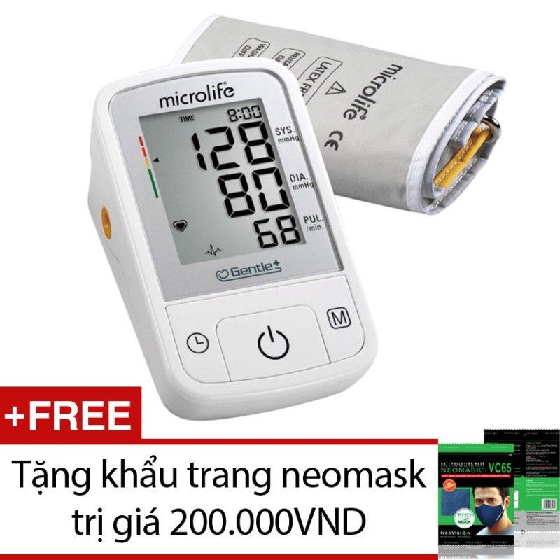 Nơi bán Máy đo huyết áp Microlife A2 Basic (Trắng) + Tặng khẩu trang neomask