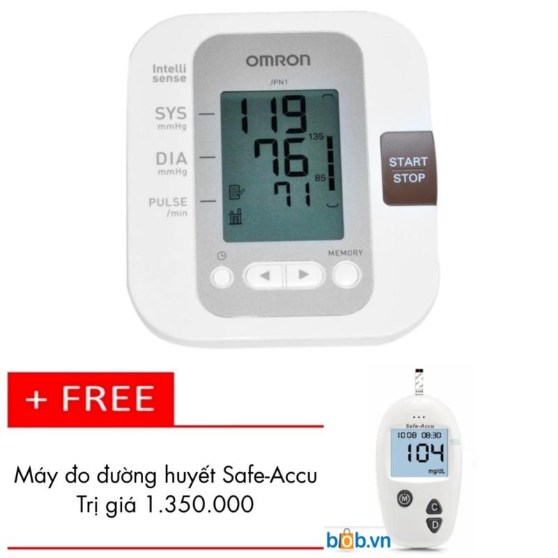 Nơi bán Máy đo huyết áp Omron bắp tay JPN1 + Tặng Máy đo đường huyết Safe-Accu