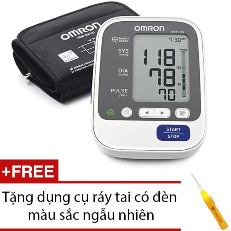 Nơi bán Máy đo huyết áp Omron Hem 7130 + Tặng dụng cụ ráy tai có đèn