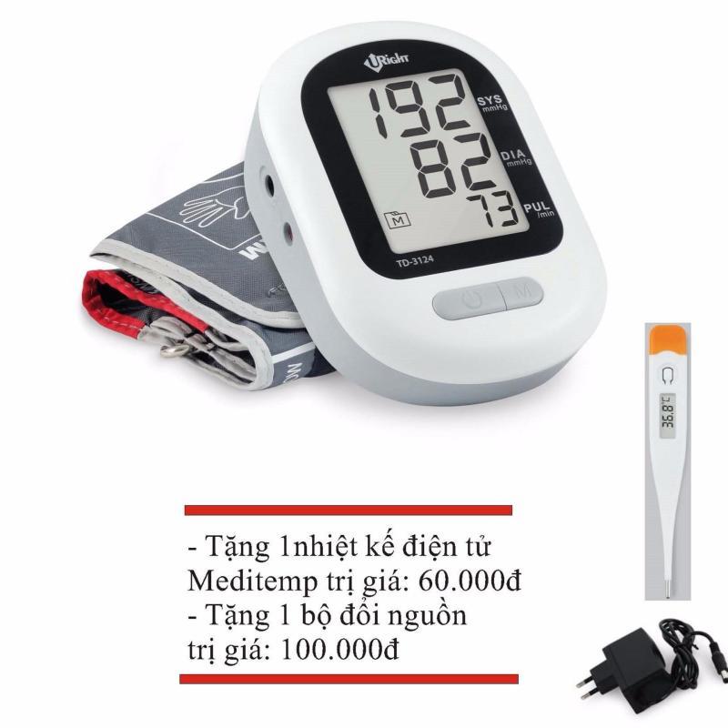 Nơi bán Máy đo huyết áp U-Right TD-3124 + Tặng 1 nhiệt kế điện tử + Tặng 1 bộ đổi nguồn AC