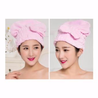 Mũ tóc bảo vệ tóc khi tắm (Hồng nhẹ)