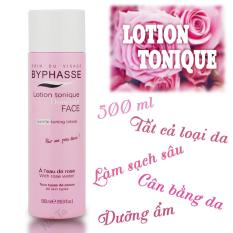 Nước hoa hồng dưỡng ẩm và làm sạch dùng cho mọi loại da BYPHASSE Lotion Tonique 500ml - Tây Ban Nha ( Màu hồng)