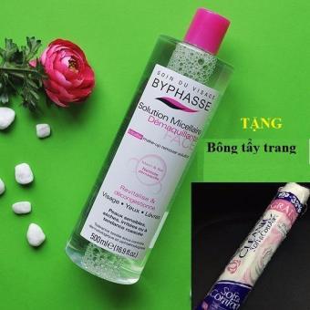 Nước tẩy trang Byphasse Micellar Make-up Remover Solution 500ml + Tặng Bông Tẩy Trang Cleanic - Nhungshop