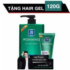 Romano - Dầu gội Hương nước Hoa 650 g - Classic ++ Tặng 1 Gel vuốt tóc 120 g