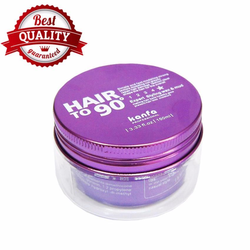Sáp vuốt tóc Kanfa Hair To 90 100ml + Gôm xịt tóc bạc 320ml Macco Mart