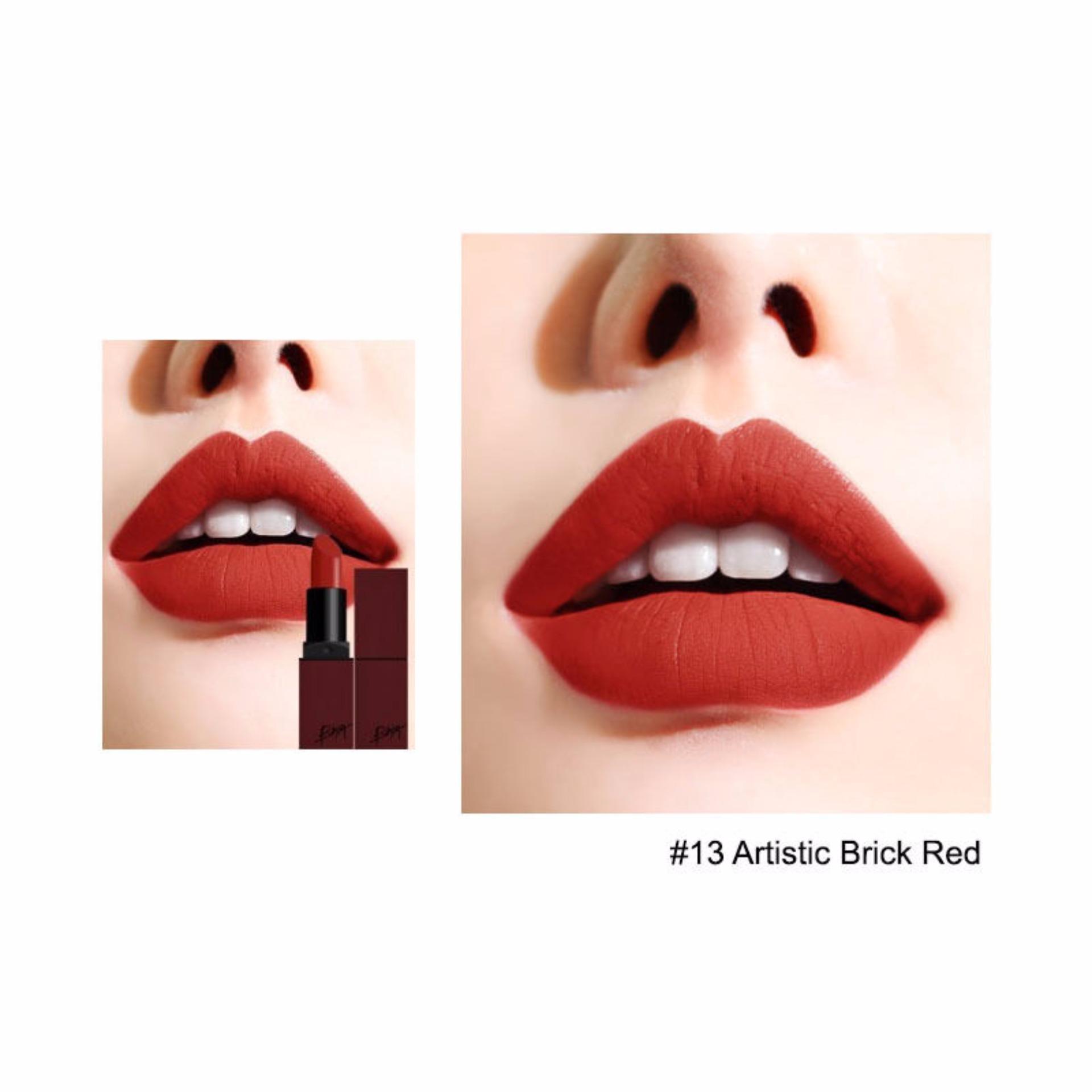 ... Son BBia Last Lipstick Version 3 #13 Artistic - Sắc đỏ nâu pha cam ...