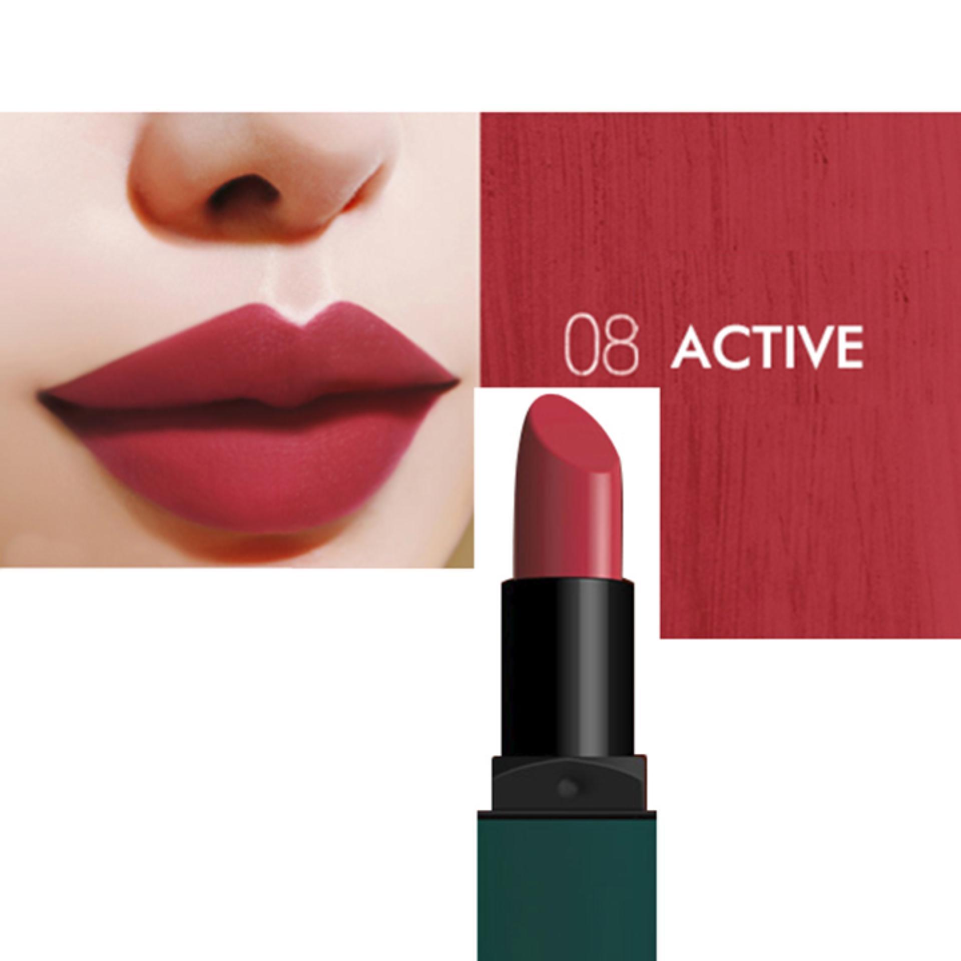 ... Son Lì Bbia Last Lipstick Version 2 #08 Active - Chuẩn màu sắc hoahồng  khô ...