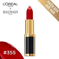 Son màu mịn môi LOreal Paris Balmain - 355: Đỏ tốt nhất