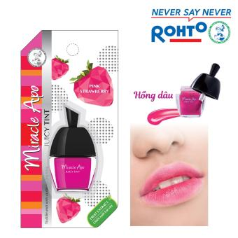 Son nước Miracle Apo Juicy Tint Pink Strawberry 3.5g (Hồng dâu)