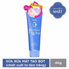 Sữa rửa mặt chiết xuất tơ tằm trắng Senka Perfect Whip 40g