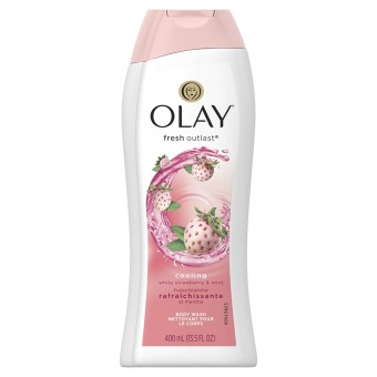 Sữa tắm Olay Cooling White Strawberry & Mint 400ml