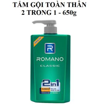 TẮM GỘI toàn Thân 2TRONG1 cao cấp hương nước hoa Romano 650g