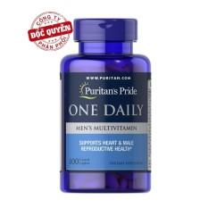 Viên uống bổ sung Vitamin và khoáng chất cho nam giới Puritan's Pride One Daily Men's Multivitamin 100 viên.