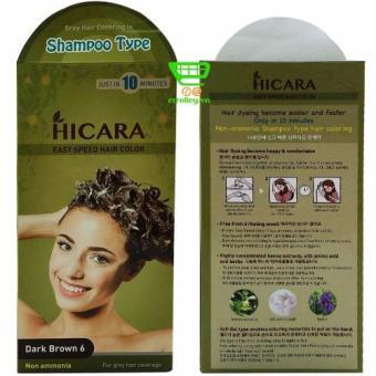 Thuốc nhuộm tóc phủ bạc dạng gội HICARA Easy 6 60g (Nâu Đen) - 8182148 , HI860HBAA13GM6VNAMZ-1578402 , 224_HI860HBAA13GM6VNAMZ-1578402 , 290000 , Thuoc-nhuom-toc-phu-bac-dang-goi-HICARA-Easy-6-60g-Nau-Den-224_HI860HBAA13GM6VNAMZ-1578402 , lazada.vn , Thuốc nhuộm tóc phủ bạc dạng gội HICARA Easy 6 60g (Nâu Đen)