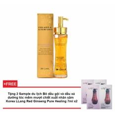Tinh chất dưỡng trắng, tái tạo da chống lão hóa 3W Clinic Collagen Luxury Gold 150ml + Tặng 2 Sample du lịch Bộ dầu gội và dầu xả dưỡng tóc mềm mượt chiết xuất nhân sâm Korea LLang Red Ginseng Pure Healing 7ml x2