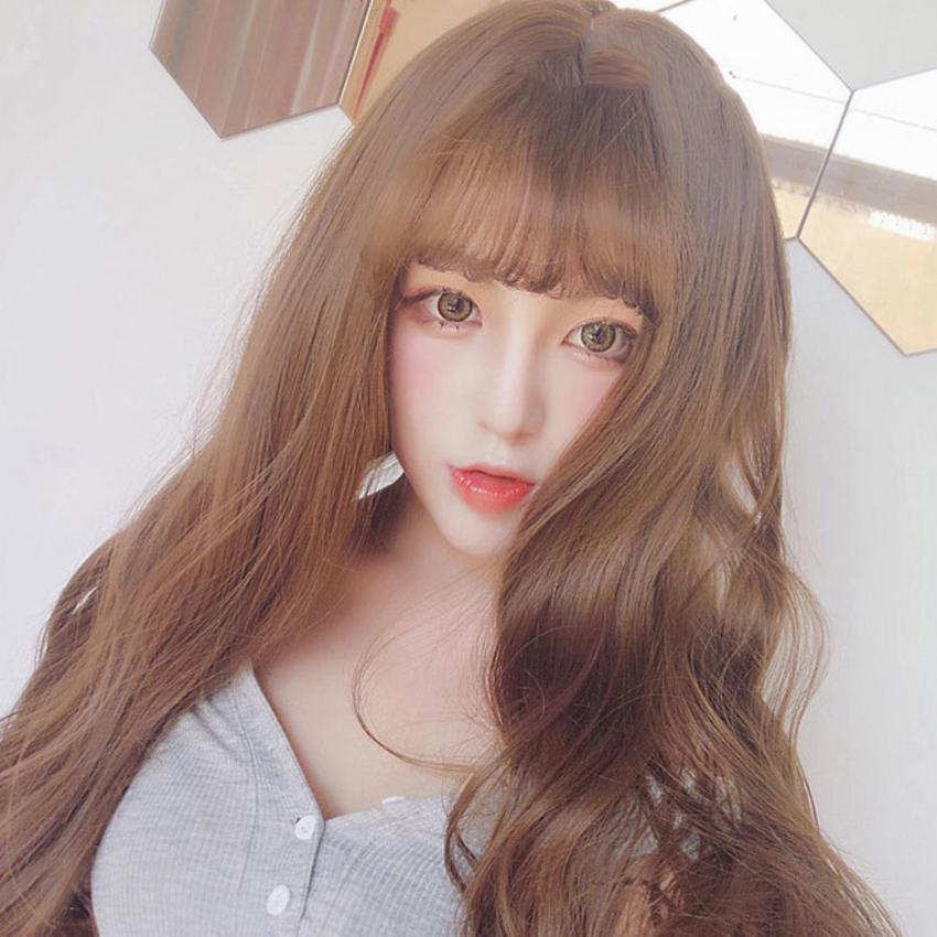 Tóc giả nữ Hàn Quốc cao cấp có da đầu + tặng kèm Lưới trùm tóc - TG5765 ( MÀU...
