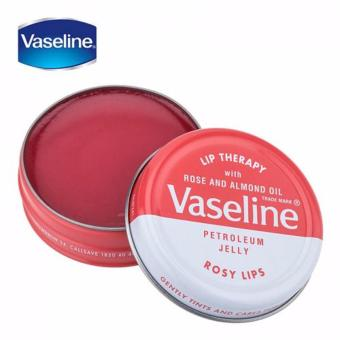 Vaseline dưỡng hộp thiếc Cacao Lip Therapy Rosy 20g
