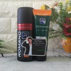 Xịt khử mùi Romano Attitude 150ml tặng keo cứng tóc vừa 40ml