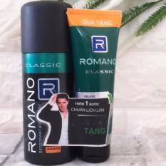 Xịt Khử Mùi Romano Classic-150ml( tặng keo cứng tóc vừa 40gr)