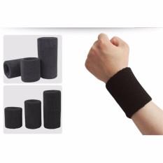 Cửa hàng bán 1 Đôi băng bảo vệ cổ tay co dãn khi thể dục (15 cm) (Ghi)