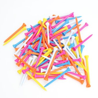 100Pcs Mixed Color Plastic 82mm Wooden Golf Tees - intl