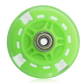 1PCS LED FLASH WHEEL FOR MINI or MAXI MICRO SCOOTER FLASHING LIGHTS 80mm REAR ABEC-7 - intl