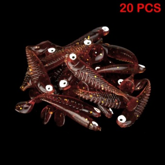 20 Pcs Soft Plastic Lures Fishing Bait Tail Capuchin Maggots SoftTackle 5cm - intl
