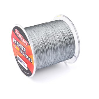 300M Durable Fishing Line PE Four Strand Braid Fish-line Grey0.8/10LB - intl