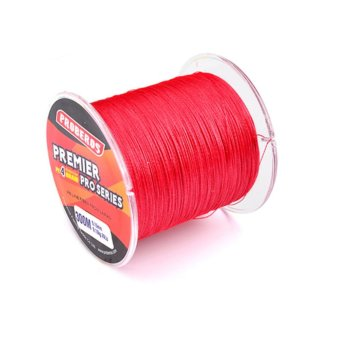 300M Durable Fishing Line PE Four Strand Braid Fish-line Red2.0/25LB - intl