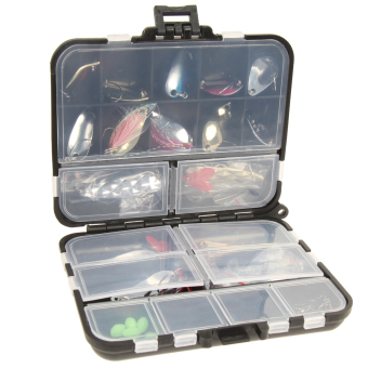 37pcs Metal Spoon Fishing Lure Kits with Box - intl