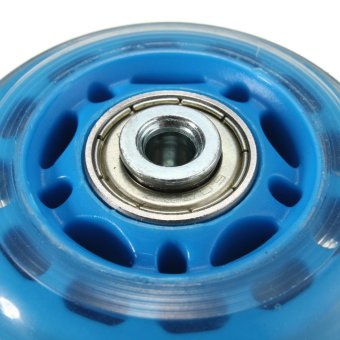 4 Pcs 64mm 82A Replacement Wheels Rollerblade Skating Inline Skate Shoes Blue - intl