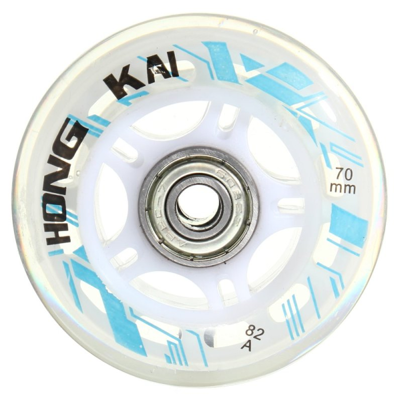 Mua 4 Pcs 70mm 82A Replacement Wheels Rollerblade Skating Inline Skate Shoes White - intl