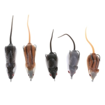 5pcs Soft Mice Shape Fishing Lure Bait Fishing Tackle for Snakehead- intl