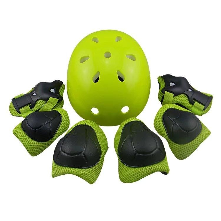 7pcs Protective Gear Helmet Elbow Wrist Knee Pads Adjustable Skateboard Roller Skating Cycling 1059 - intl
