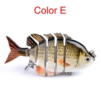8cm 14g Multi-Jointed Fishing Lure bait plastic bionic bait (E) - intl