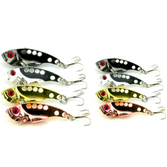 8pcs Spoon Crank Bait Tackle VIB Metal Fishing Lures - intl