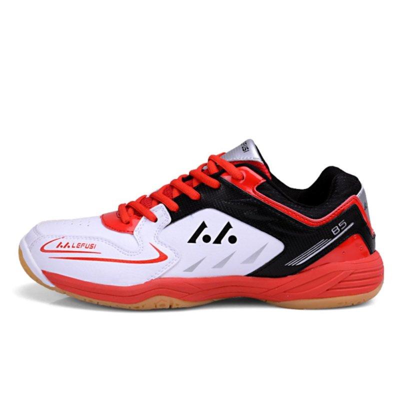 Badminton Shoes Couples Badminton Sneaker Indoor Sport Tennis Shoes (Red) - intl