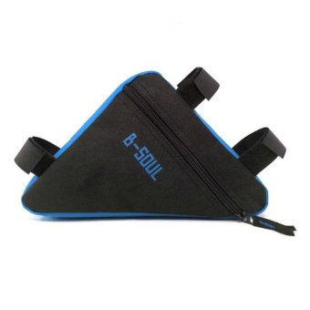 Bang Cycling Triangle Front Tube Frame Pouch Bag (Black+Blue) - intl