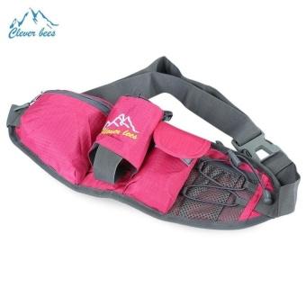 Bang Outdoor Unisex Running Sport Waist Bag With Bottleholder (Red) - intl