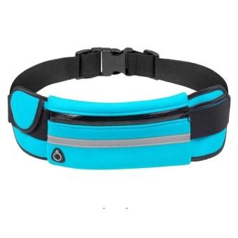 Bang Sports Running Pockets, Outdoor Sweat Reflective Running Bag Blue - intl